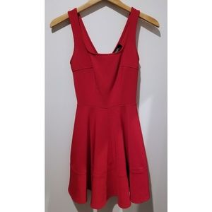 LULU'S Home Before Daylight Red Fit & Flare Dress
